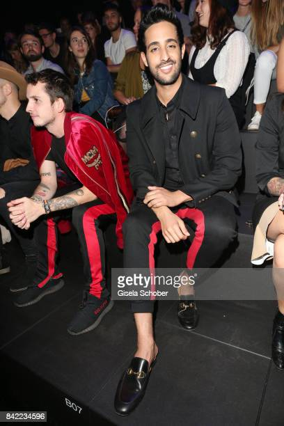 Youtuber Sami Slimani attends the Kooples fashion show during the Bread & Butter by Zalando at B&&B Stage, arena Berlin on September 3, 2017 in...