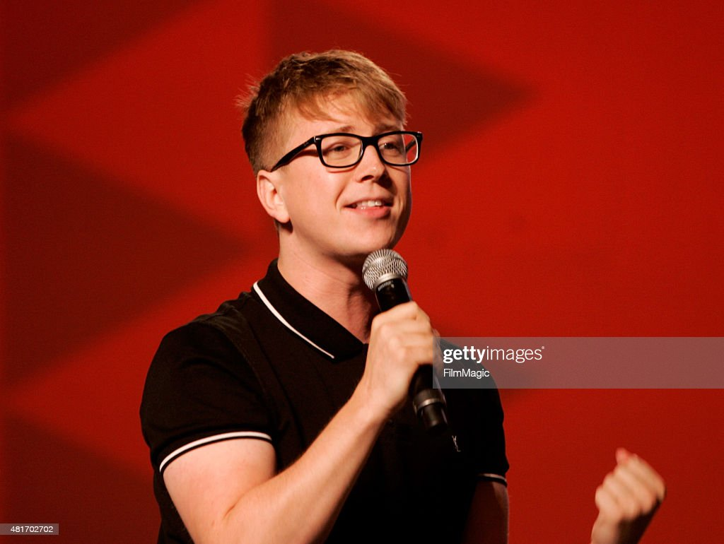 YouTuber Tyler Oakley speaks at #VidCon at Anaheim Convention Center on July 23, 2015 in Anaheim, California.
