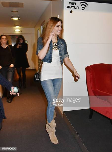 Youtuber/model/comedian Andy Raconte attends the Youtuber Andy Meets Her Fan At FNAC Bercy in Paris on April 2 2015 in Paris France
