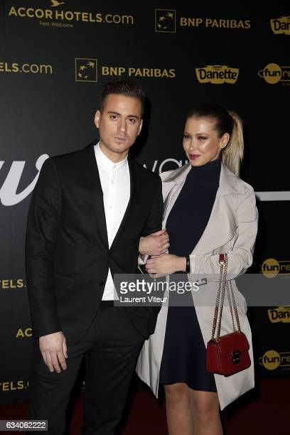 Youtubers Andreas and Andreane attend the '4th Melty Future Awards' at Le Grand Rex on February 6 2017 in Paris France