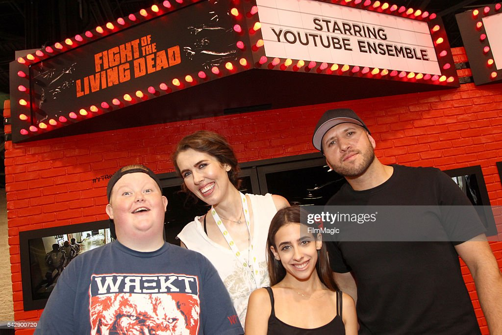 YouTubers Brandon Bowen, Brittani Louise Taylor, Raya and Dennis Roady attend the YouTube Red Originals Experience during VidCon at the Anaheim Convention Center on June 24, 2016 in Anaheim, California.