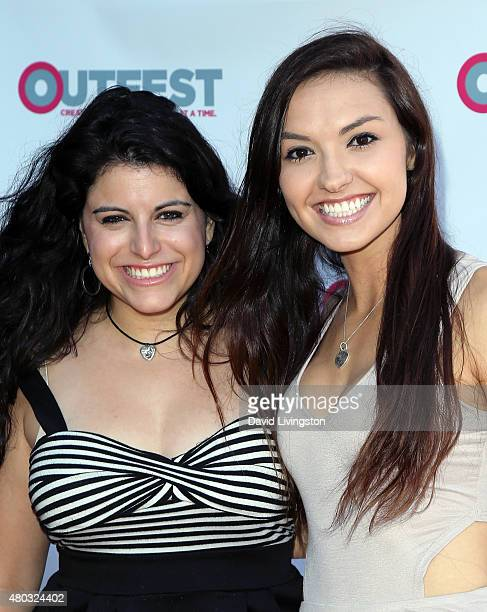 YouTubers Bria Kam and Chrissy Chambers attend the premiere of IFC Film's 'Jenny's Wedding' at the 2015 Outfest Los Angeles LGBT Film Festival at the...
