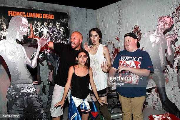 YouTubers Dennis Roady Raya Brittani Louise Taylor and Brandon Bowen attend the YouTube Red Originals Experience during VidCon at the Anaheim...