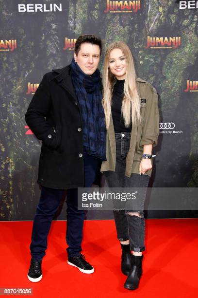 Youtubers Der Heider and Julia Beautx attend the German premiere of 'Jumanji Willkommen im Dschungel' at Sony Centre on December 6 2017 in Berlin...