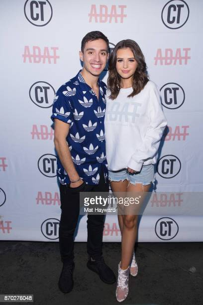YouTubers Gabriel Conte and Jess Conte of Jess Gabriel pose for a photo during the 'Another Day Another Tour' tour at the Crocodile on November 4...