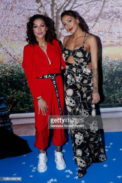 "Youtubers Rawell Saiidii and her sister Rania Saiidii attend Disney's ""Mary Poppins Returns Paris Gala Screening at UGC Cine Cite Bercy on December..."