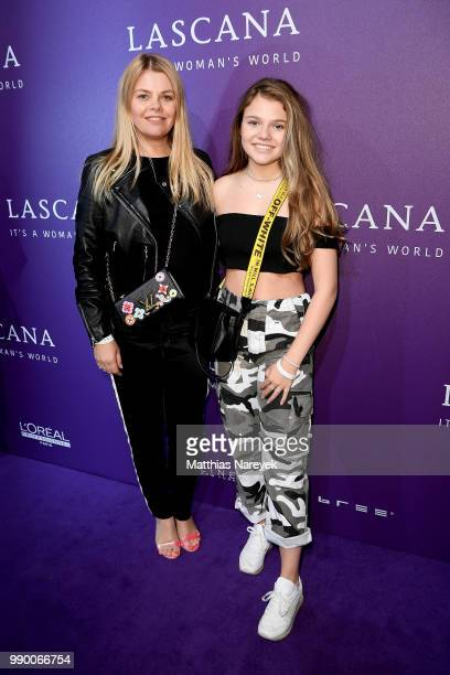 Youtubestar and actress Faye Montana and her mother German actress AnneSophie Briest attend the Lascana show during the Berlin Fashion Week...