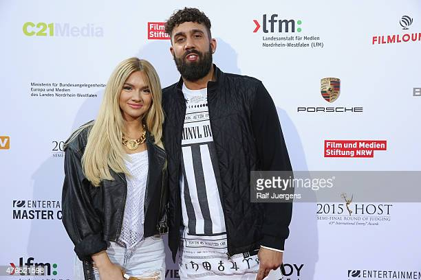 YoutubeStars Shirin David and Chris Mauazidis attend the party after the semifinal round of judging for the 43rd International Emmy Awards at...