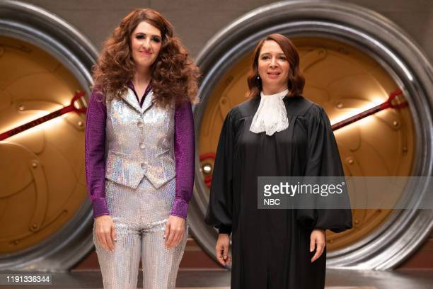 """You've Changed, Man"""" Episode 410 -- Pictured: D'Arcy Carden as Janet, Maya Rudolph as Judge --"""