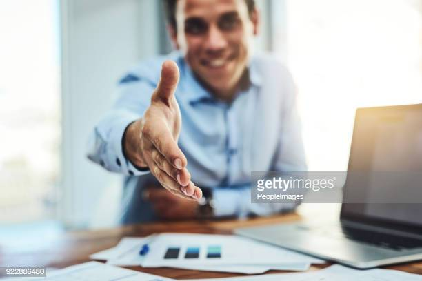 you've got the job! - giving stock photos and pictures