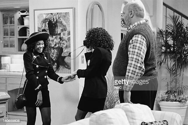 AIR THE 'You've Got to be a Football Hero' Episode 12 Pictured Tatyana Ali as Ashley Banks Karyn Parsons as Hilary Banks James Avery as Philip Banks...