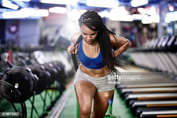 you've gotta push through the pain - black female bodybuilder stock photos and pictures