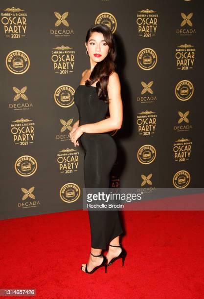 Yovanna Ventura attends Darren Dzienciol & Richie Akiva's Oscar Party 2021 on April 25, 2021 in Bel Air, California.