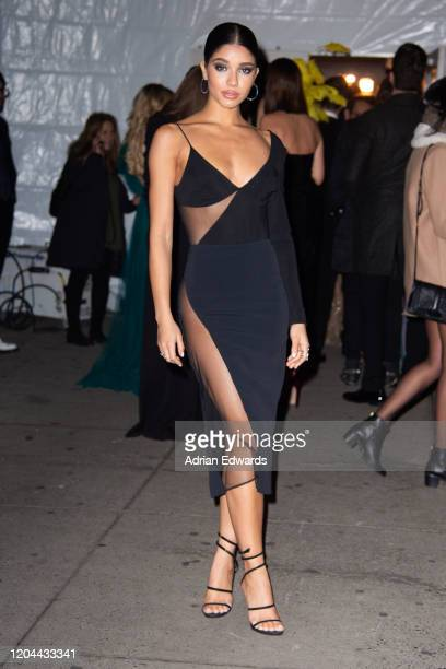 Yovanna Ventura outside the amFAR Gala held at Cipriani Wall St on February 5, 2020 in New York City.