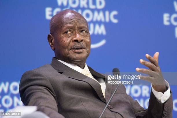 Yoweri Museveni, who has been president of Uganda since 1986, speaks during the World Economic Forum Africa meeting at the Cape Town International...