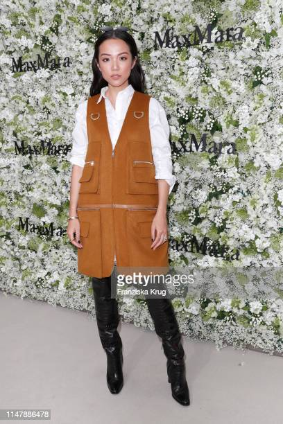 Yoyo Cao during the Max Mara Resort 2020 Fashion Show at Neues Museum on June 3 2019 in Berlin Germany