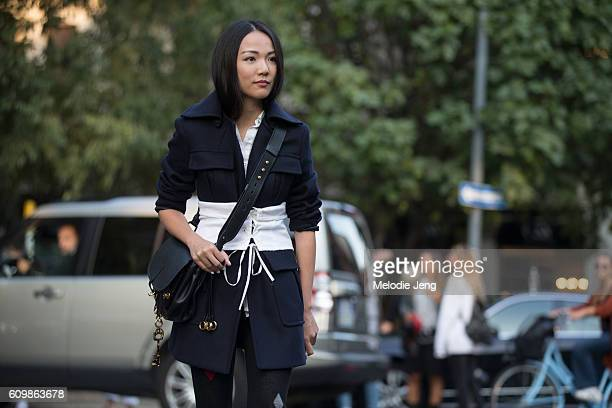 Yoyo Cao is seen during Milan Fashion Week Spring/Summer 2017 on September 22 2016 in Milan Italy