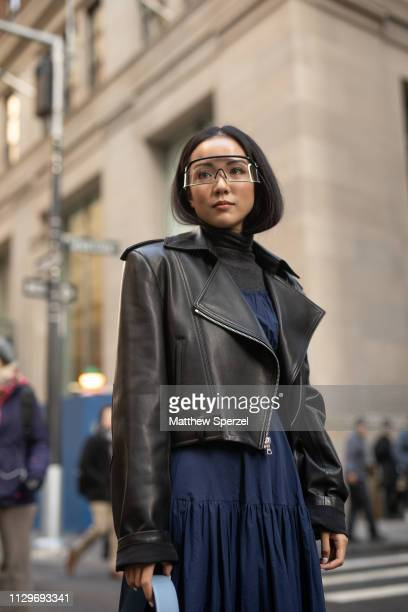 Yoyo Cao is seen on the street during New York Fashion Week AW19 wearing Michael Kors on February 13 2019 in New York City
