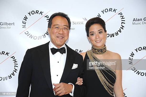 YoYo Ma and Emily Ma attend the New York Philharmonic 172nd Season Opening Night Gala at Avery Fisher Hall Lincoln Center on September 25 2013 in New...