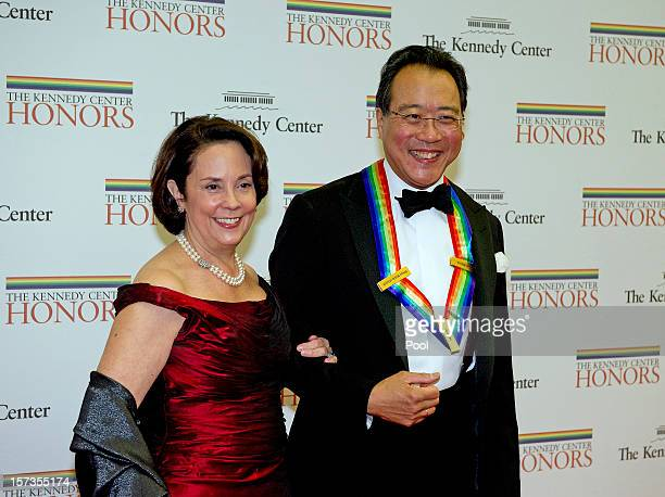 YoYo Ma and Jill Hornor arrive for the formal Artist's Dinner honoring the recipients of the 2012 Kennedy Center Honors hosted by United States...