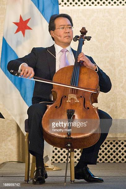 YoYo Ma attends the 2013 Arts Alliance Illinois' Voices of a Creative luncheon at the Hilton Chicago on May 17 2013 in Chicago Illinois
