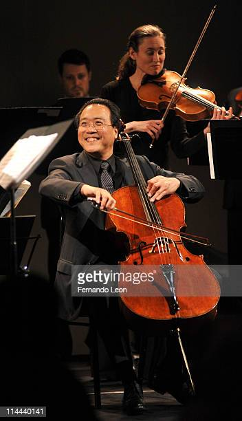 YoYo Ma performing onstage during an Evening Celebration of Parenting at Stephan Weiss Studio on May 19 2011 in New York City