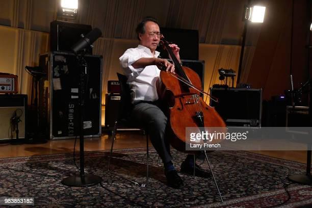 YoYo Ma performs on SiriusXM's Symphony Hall hosted by David Srebnik at SiriusXM Washington DC Studios on June 25 2018 in Washington DC