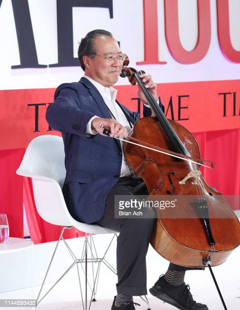 YoYo Ma performs onstage the TIME 100 Summit 2019 on April 23 2019 in New York City