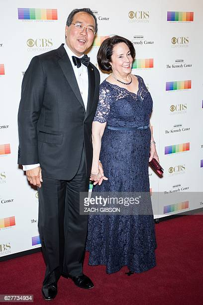 YoYo Ma poses on the red carpet with his wife Jill Horner before the 39th Annual Kennedy Center Honors December 4 2019 in Washington DC / AFP / ZACH...