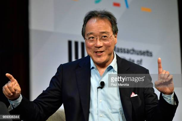 YoYo Ma speaks at the 'Solve At MIT Opening Plenary The Heart Of The Machine Bringing Humanity Back Into Technology' at Massachusetts Institute of...
