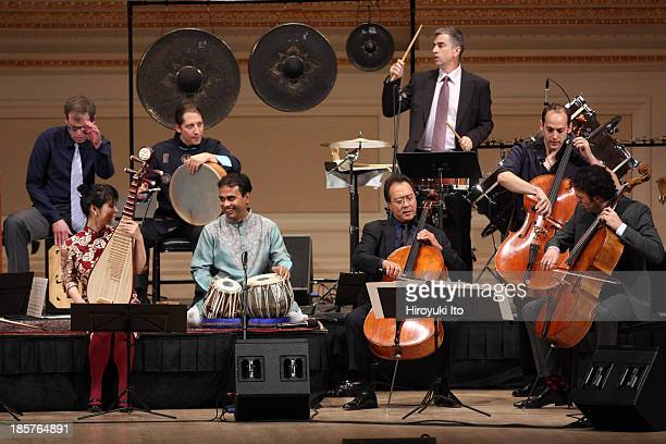 YoYo Ma with the Silk Road Ensemble at Carnegie Hall on Wednesday night October 16 2013They performed the music of John Zorn Angel Lam Vijay Iyer...