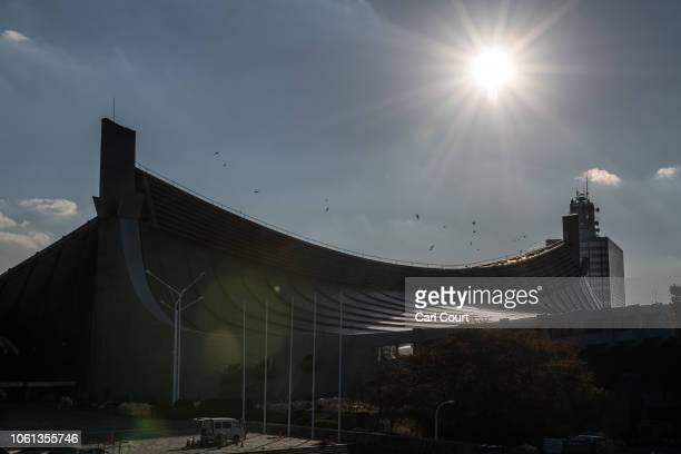 Yoyogi National Stadium is pictured on November 14 2018 in Tokyo Japan The 13291 seat stadium is set to host handball during the Tokyo 2020 Olympics...