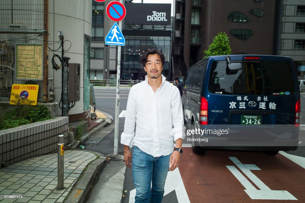 Yozo Kaneko, president and chief operating officer of United Inc., poses for a photograph in Tokyo, Japan, on Thursday, May 31, 2018. Mercari Inc.'s $3.7 billion coming-outpartywill deliver a 149-times return to early investorUnited Inc., which engineered a 300 million yen ($2.7 million) round in the flea-market app in 2013. That stake will be worth at least 45 billion yen when Mercari goes public June 19, a mega-windfall that may galvanize the No. 3 economy's stunted startup scene. Photographer: Kentaro Takahashi/Bloomberg via Getty Images