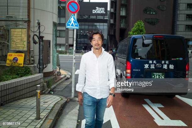 Yozo Kaneko president and chief operating officer of United Inc poses for a photograph in Tokyo Japan on Thursday May 31 2018 Mercari Inc's $37...