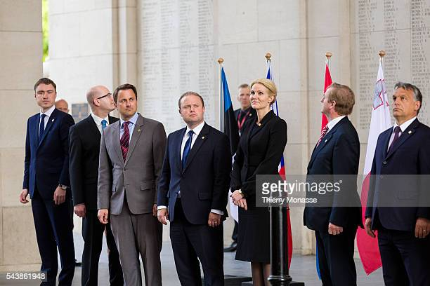 Ypres, West Flanders, Belgium, June 26, 2014. -- European heads of states attend a ceremony marking the centenary of the outbreak of WW I in the...