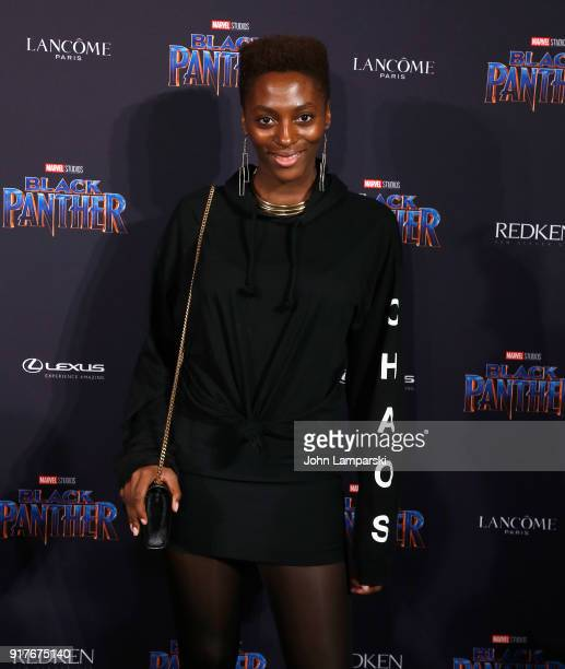 Yrsa Daley Ward attends Marvel Studios Presents Black Panther Welcome To Wakanda during February 2018 New York Fashion Week The Shows at Industria...