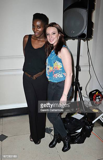 Yrsa DaleyWard and Anna Nightingale attend a social media party to launch the 'FDA Summer 2013 At The Cinema' at Somerset House on April 23 2013 in...