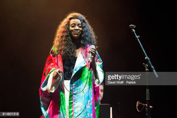 Ysee opens for Mary J Blige at L'Olympia on July 14 2017 in Paris France