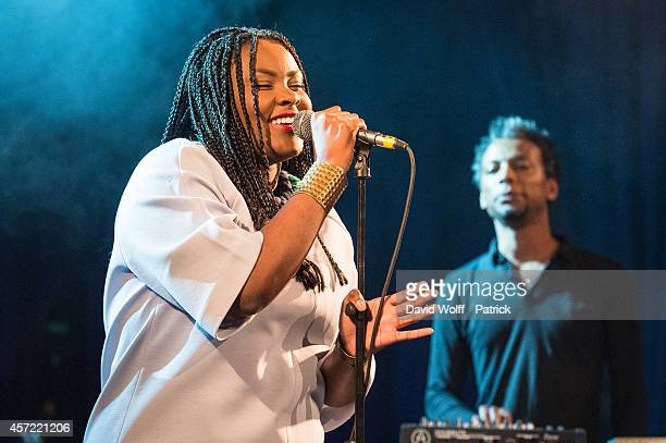 Yseult performs during private showcase at Divan du Monde on October 14 2014 in Paris France
