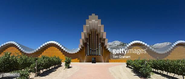 Ysios Bodega winery futuristic architecture at Laguardia in RiojaAlaveda wineproducing area of Basque country Spain