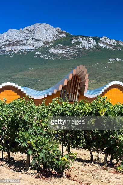Ysios Bodega winery futuristic architecture at Laguardia in RiojaAlavesa wineproducing area of Basque country Spain