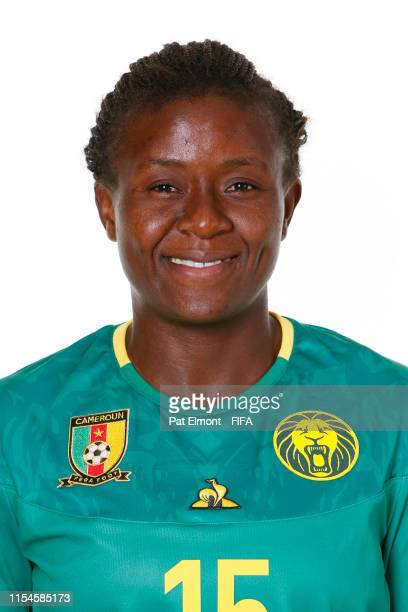 Ysis Sonkeng of Cameroon poses for a portrait during the official FIFA Women's World Cup 2019 portrait session at Crowne Plaza Montpellier Corum on...