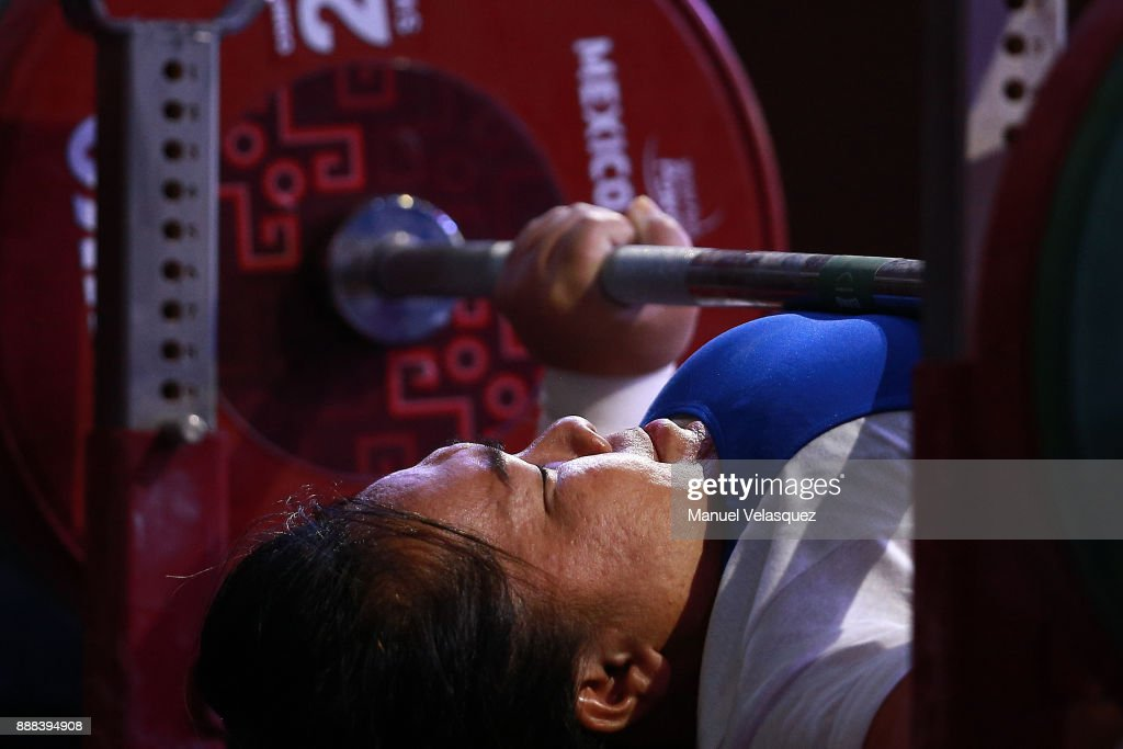 YSomkhoun Anon of Thailand competes during the Women's Upt to 67Kg Group A Category as part of the World Para Powerlifting Championship Mexico 2017 at Juan de la Barrera Olympic Gymnasium on December 6, 2017 in Mexico City, Mexico.