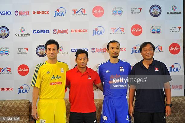 Ysuke Nozawa Captain Anil Gurung Captain Kazuyuki Toda Coach and Former Japan National Football Player and Koji Gyotoku Head Coach of Nepal National...