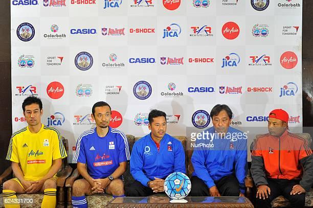 Ysuke Nozawa Captain Kazuyuki Toda Coach and Former Japan National Football Player Anil Gurung Captain and Koji Gyotoku Head Coach of Nepal National...
