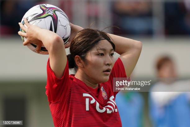 Yu Endo of MHI Urawa Reds Ladies in action during the WE League preseason match between MHI Urawa Reds Ladies and Sanfrecce Hiroshima Regina at Urawa...
