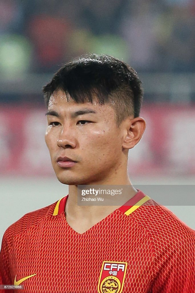 Yu Hanchao of China during International Friendly Football Match between China and Serbia at Tianhe Stadium on November 10, 2017 in Guangzhou, China.