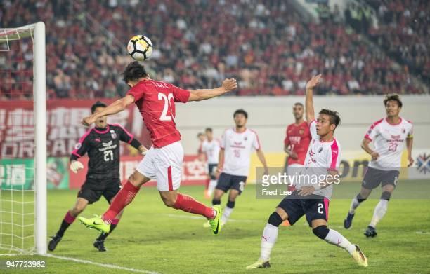 Yu hanchao of Guangzhou Evergrande Taobao in action during the 2018 AFC Champions League Group G match between Gunagzhou Evergrande and Cerezo Osaka...