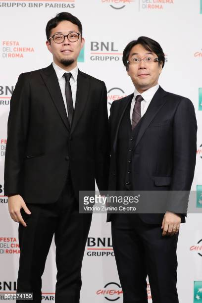 Yu Kanemaru and Ichinao Nagai attend 'Mazinger Z Infinity' photocall during the 12th Rome Film Fest at Auditorium Parco Della Musica on October 28...