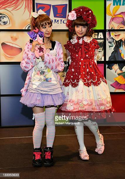 Yu Kimura and Misako Aoki attend the XV Salon de Manga on October 30 2009 in Barcelona Spain